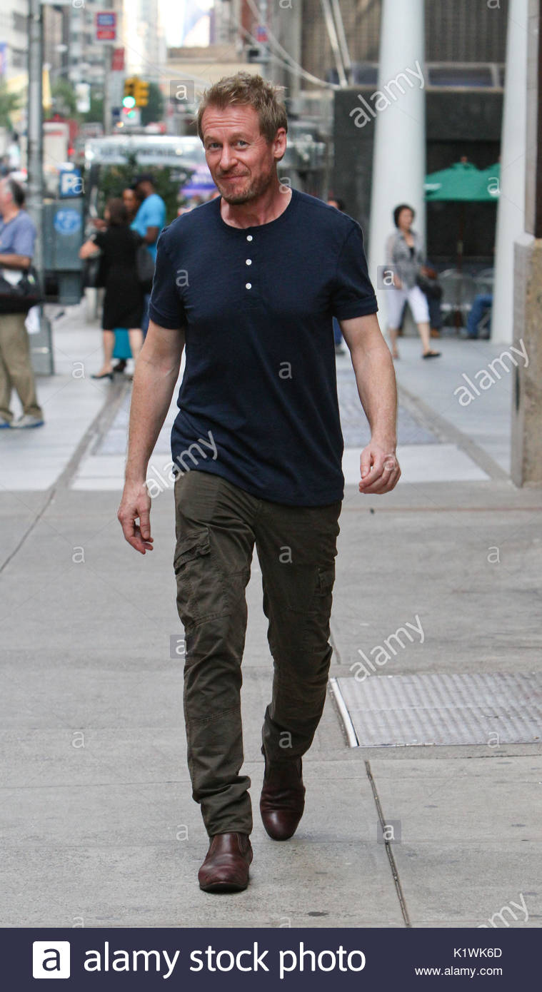 Richard Roxburgh. Richard Roxburgh arrives at the New York City Center to perform in Uncle Vanya. - Stock Image