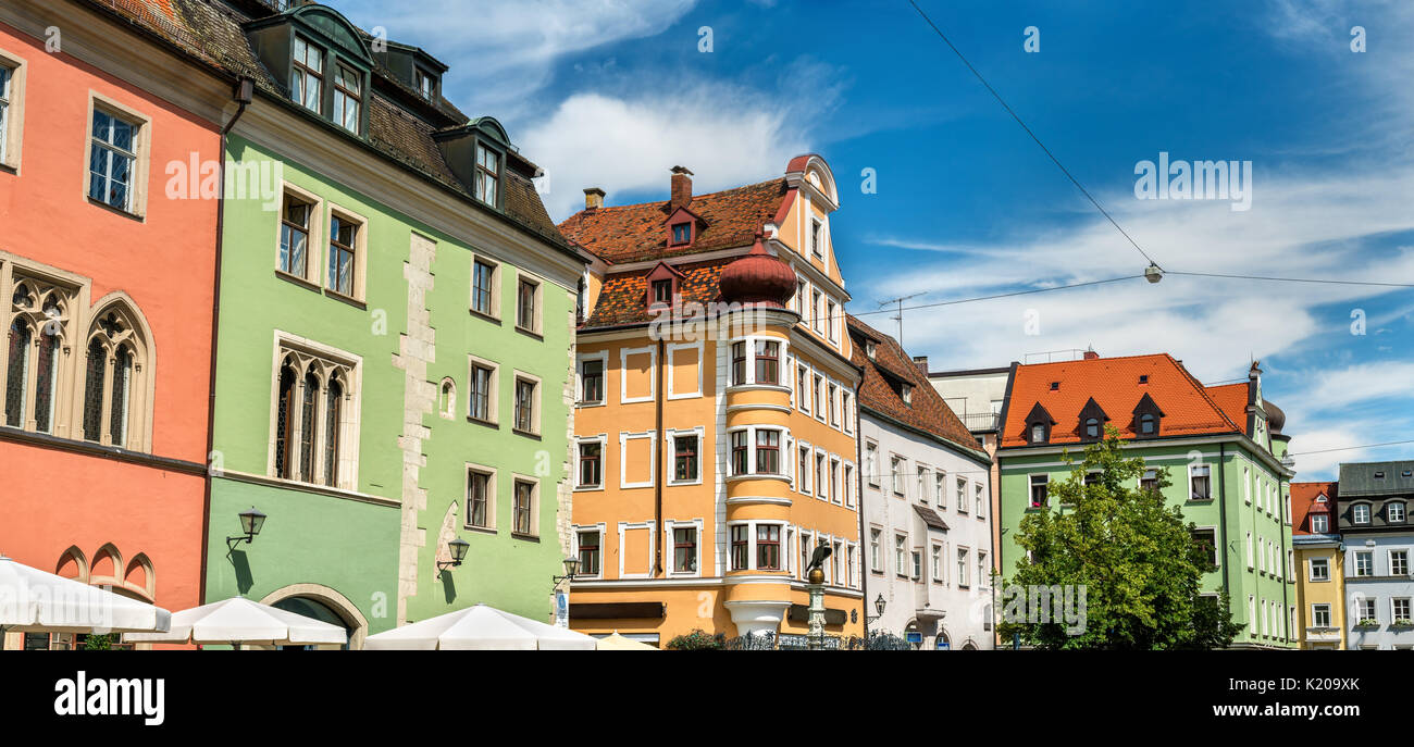 buildings in the old town of regensburg germany stock photo 156130427 alamy. Black Bedroom Furniture Sets. Home Design Ideas