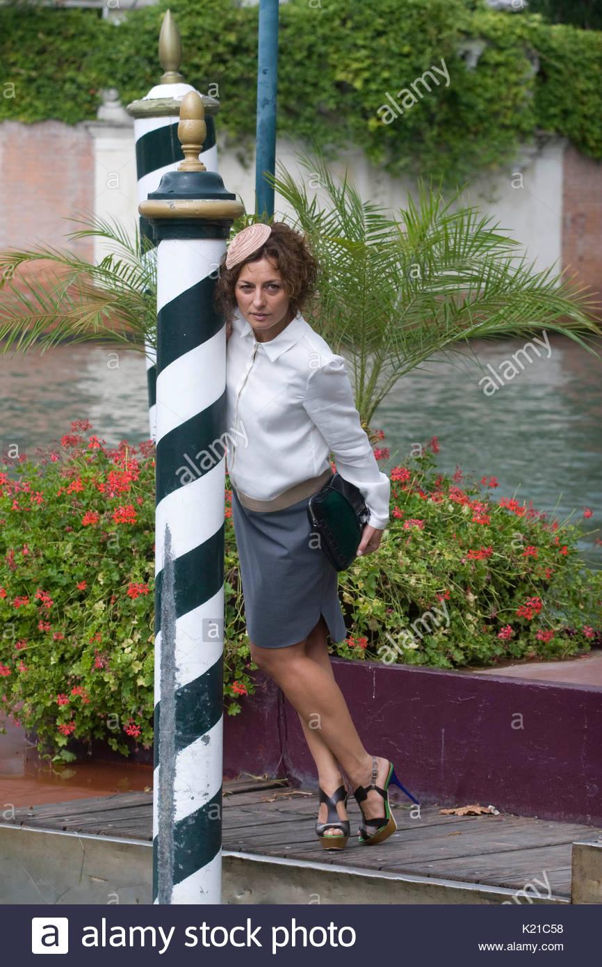 Lidia Vitale. 69th Venice International Film Festival, Italian actress Lidia Vitale poses at the imbarcadero of - Stock Image