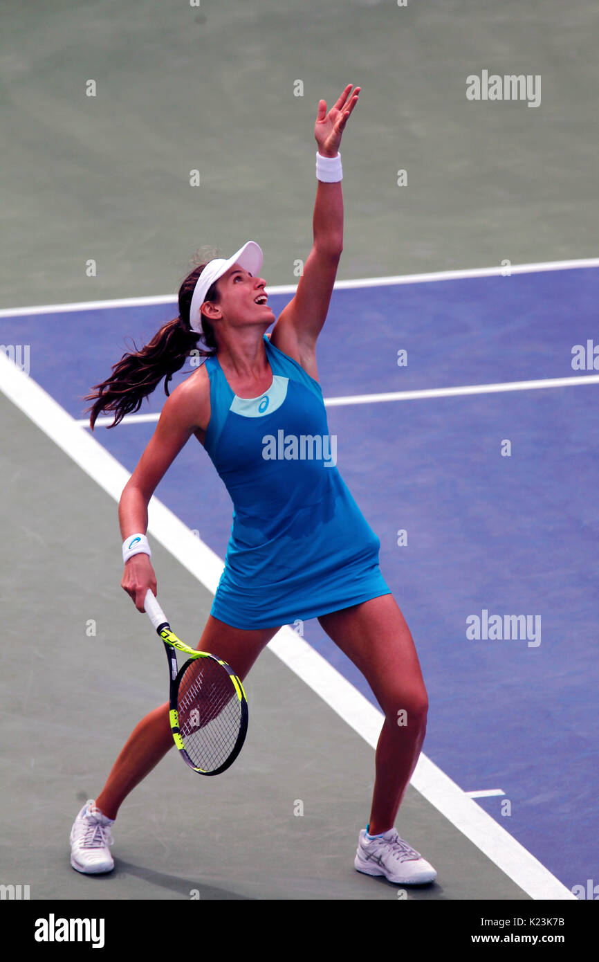 New York, United States. 28th Aug, 2017. US Open Tennis: New York, 28 August, 2017 - Joanna Konta of Great Britain - Stock Image