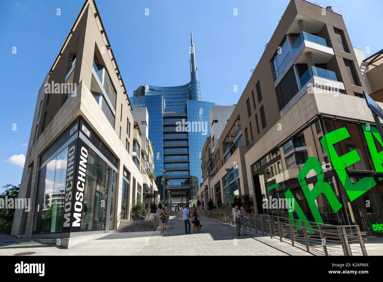 Architectures in Porta Nuova district, Milano,Italy - Stock Image