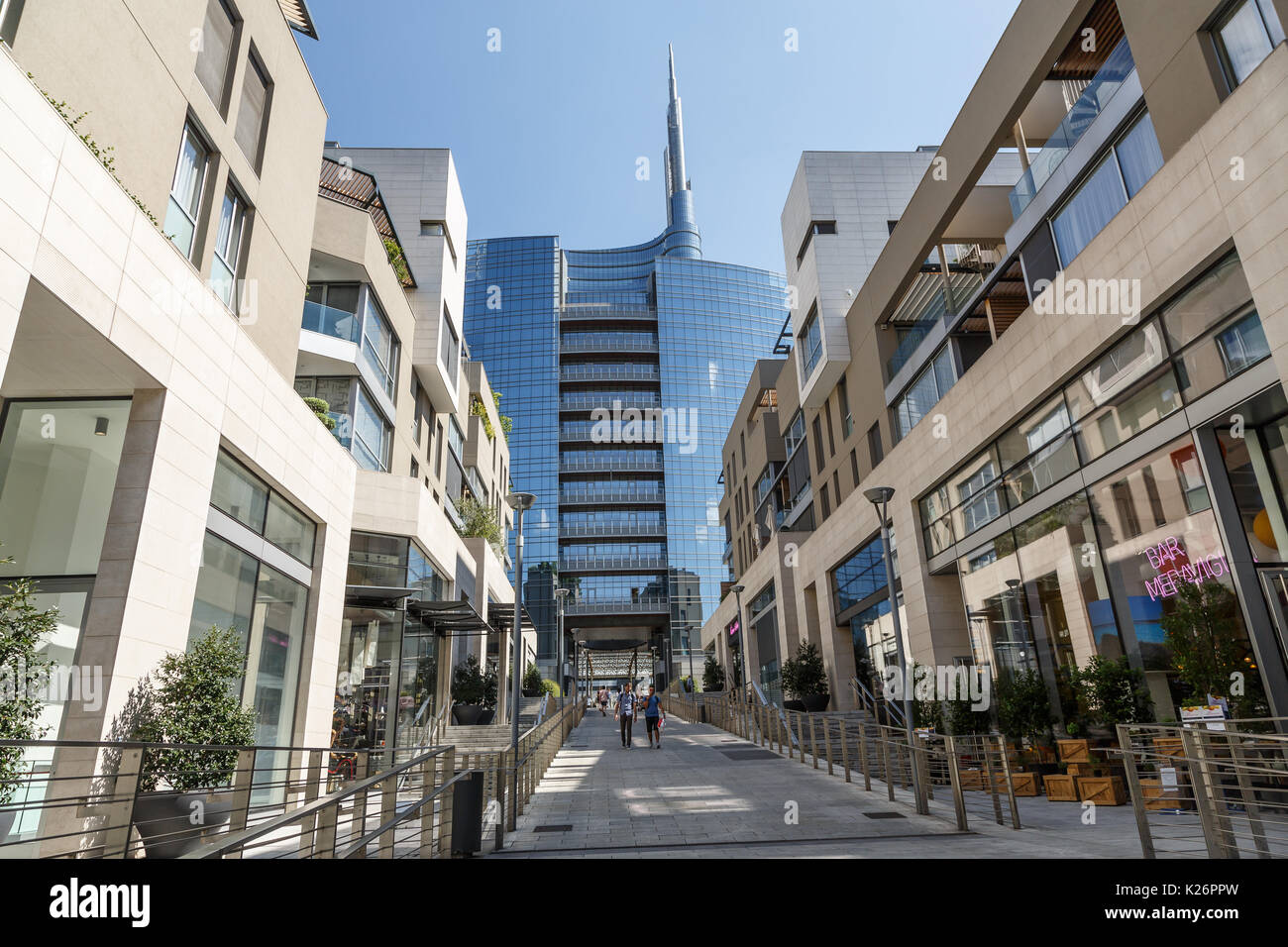 Architectures in Porta Nuova district, Milano,Italy - Stock Image