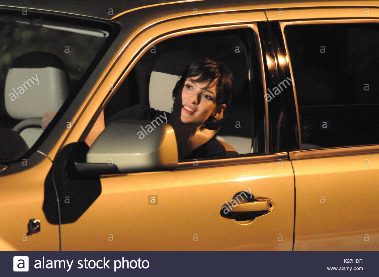 Winona Ryder. Winona Ryder and Mark Polish shooting a night scene on their new movie 'Stay Cool'. The film - Stock Image