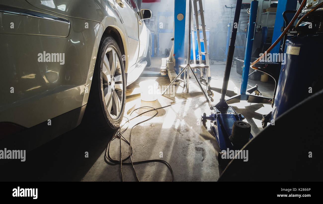 Motor vehicle inspection stock photos motor vehicle for Motor vehicle inspection station
