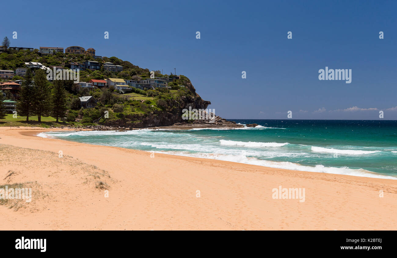 View across a sandy beach, New South Wales, Australia. November 2012. - Stock Image