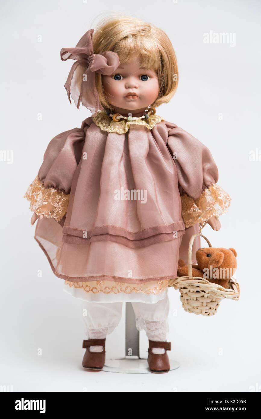 Волосы для керамической куклы