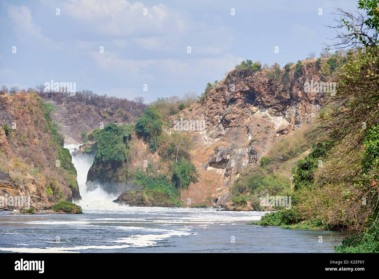 Murchisson Falls National Park and lake Albert, Uganda - Stock Image