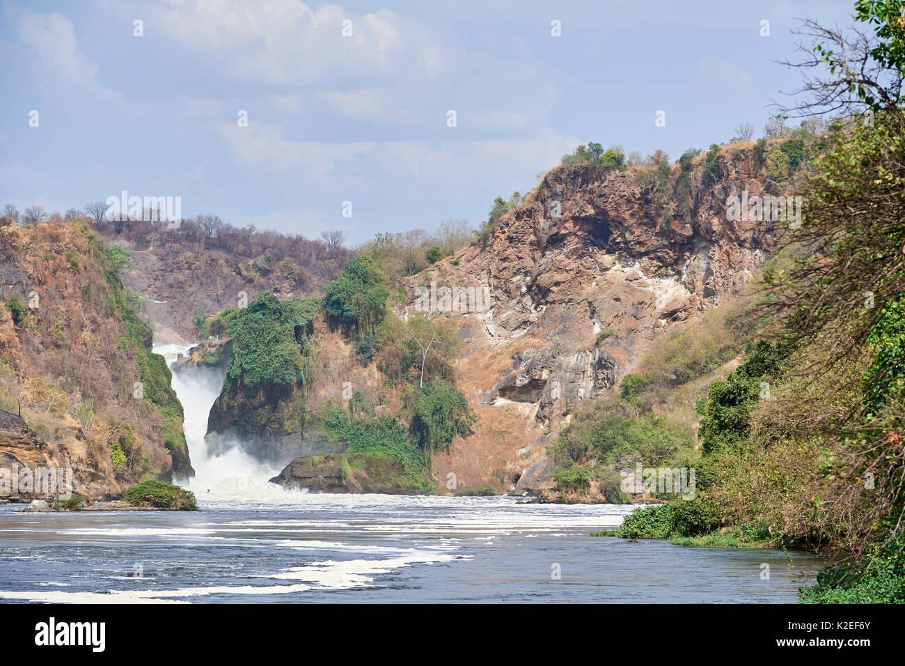 Murchisson Falls National Park and lake Albert, Uganda - Stock Image