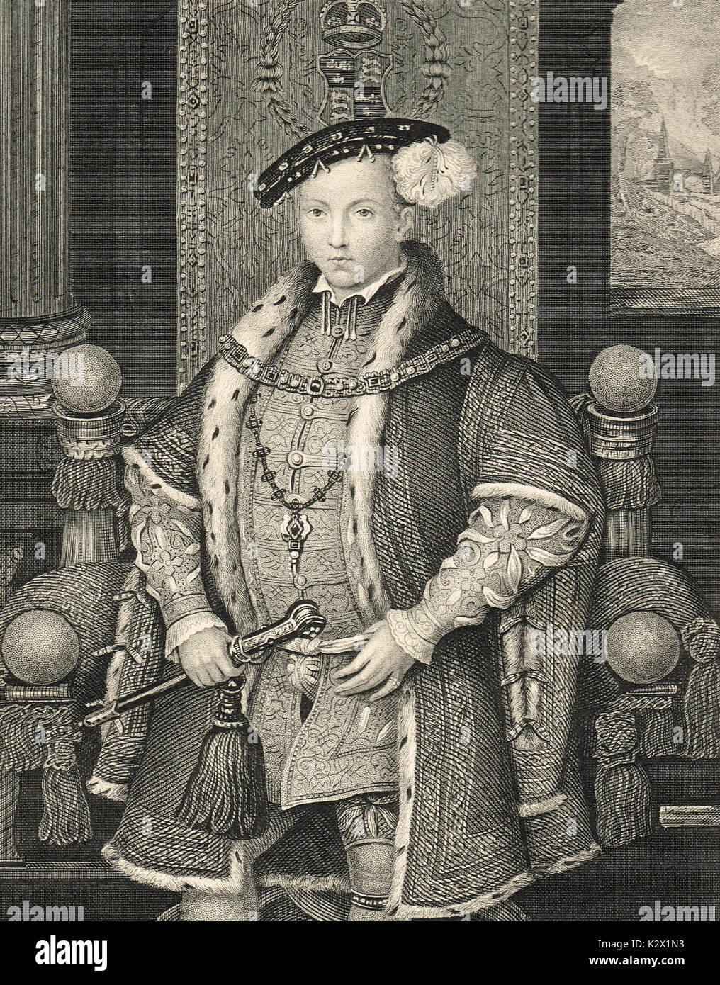 The future King Edward VI aged 6, circa 1543 - Stock Image