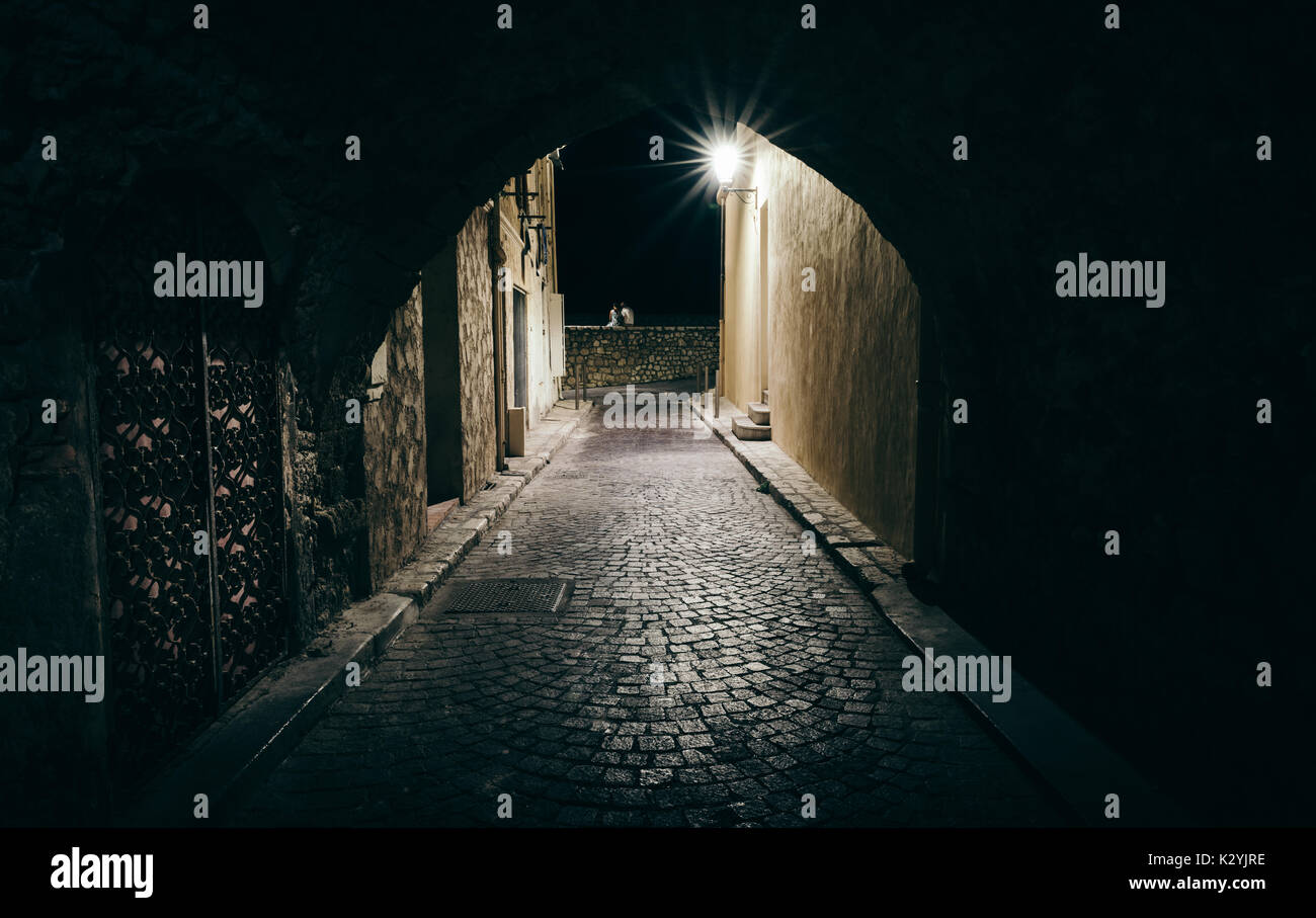 dark-and-scary-tunnel-in-antibes-cote-dazur-france-K2YJRE.jpg