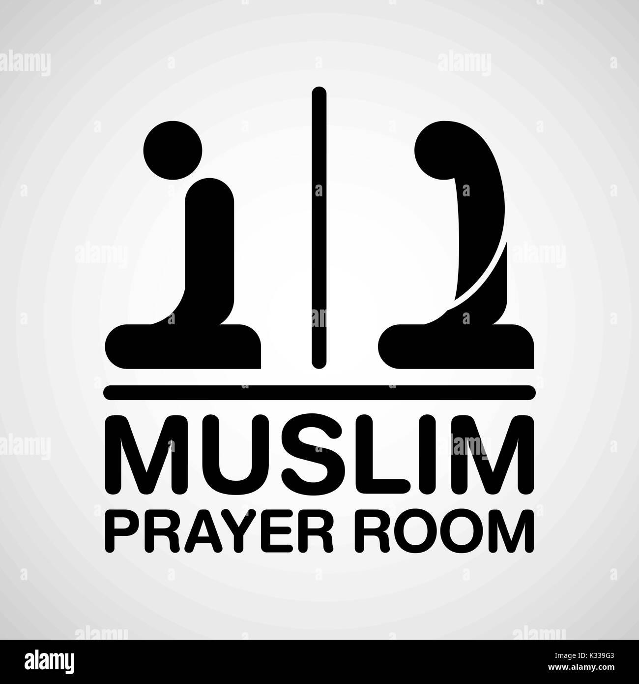 Muslim Prayer Room Sign Vector Illustrator Stock Vector Art Illustration Vector Image