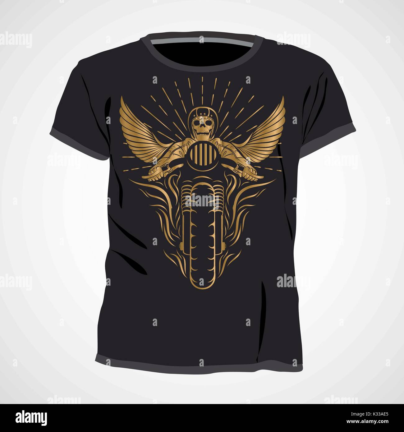 Skull T Shirt Design Template Vector Illustration Stock