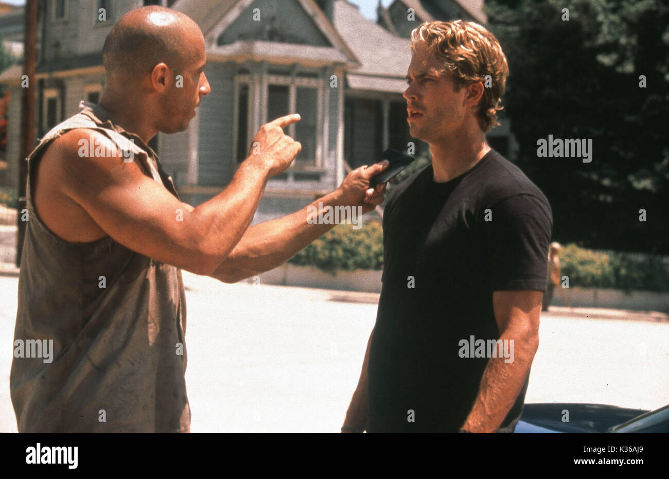 THE FAST AND THE FURIOUS PAUL WALKER AND VIN DIESEL A UNIVERSAL FILM     Date: 2001 - Stock Image