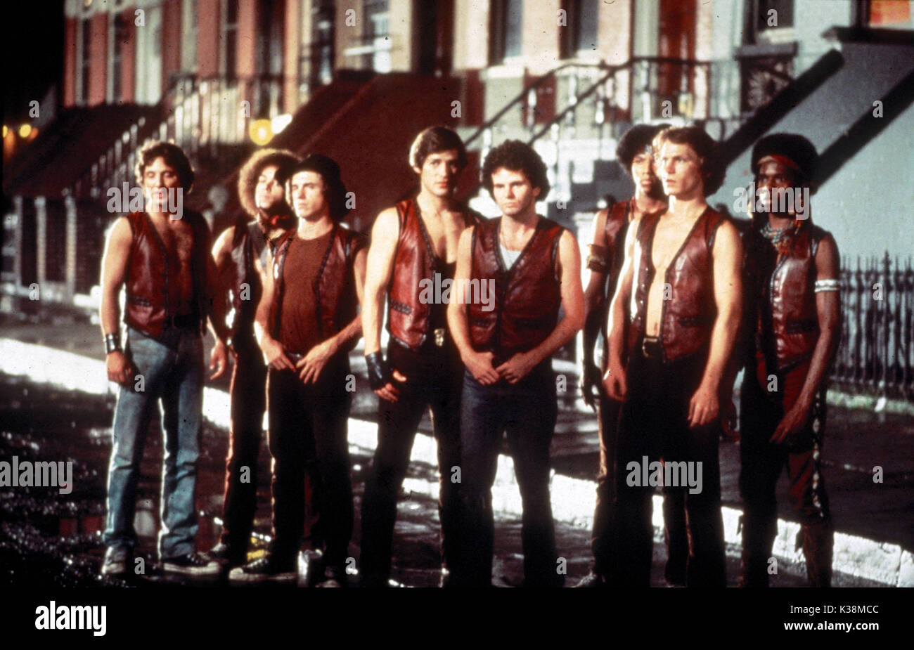 THE WARRIORS [?], [?], [?], JAMES REMAR, [?], BRIAN TYLER, MICHAEL BECK, DAVID HARRIS - Stock Image