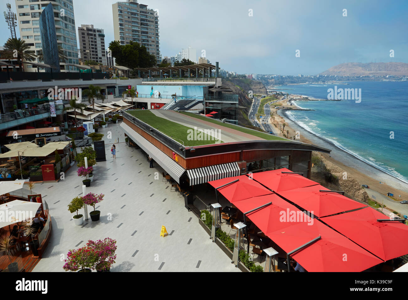 Lacomar cliff-top shopping mall, Miraflores, Lima, Peru, South America - Stock Image