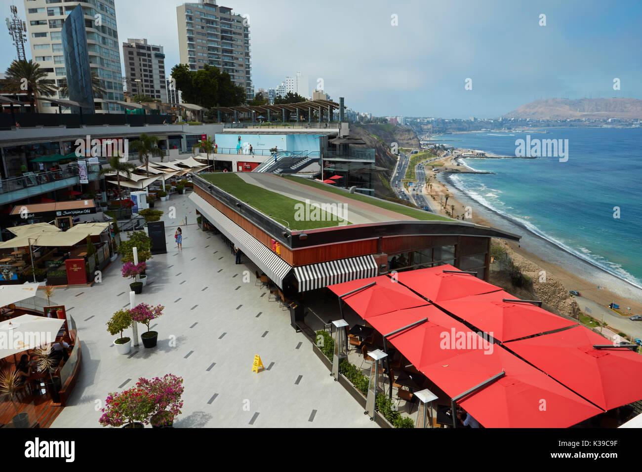 Lacomar cliff-top shopping mall, Miraflores, Lima, Peru, South America - Stock Image