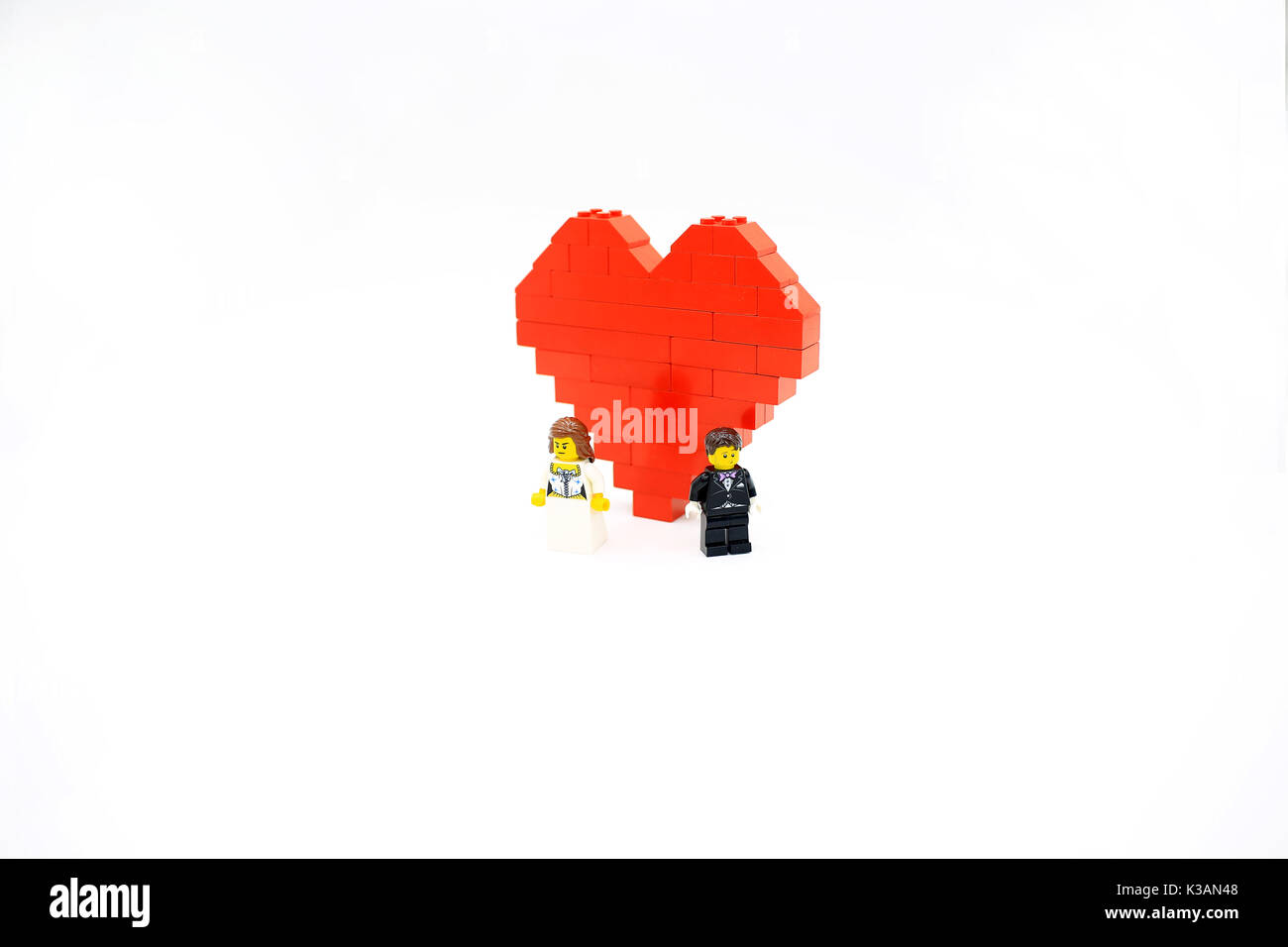 red heart  the couple - Stock Image