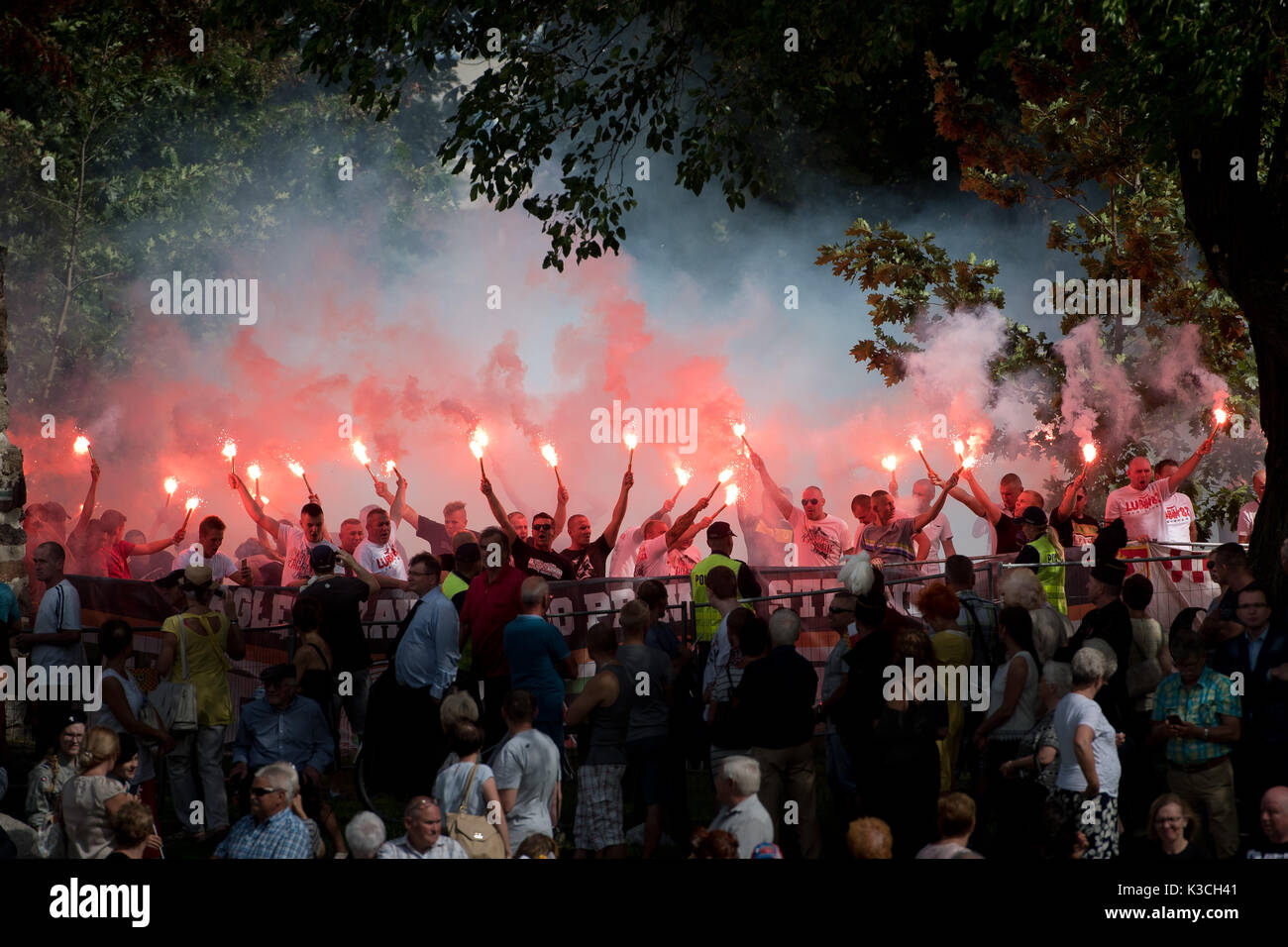 LUBIN, POLAND - AUGUST 31, 2017: Celebrations of the 35th anniversary of the Lubin Crime and the 37th anniversary - Stock Image