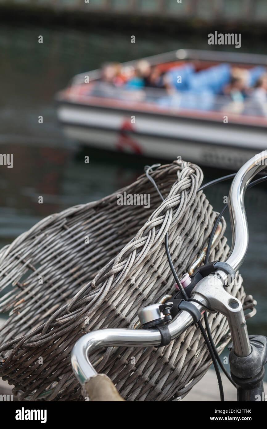 bike detail - copenhagen denmark - Stock Image