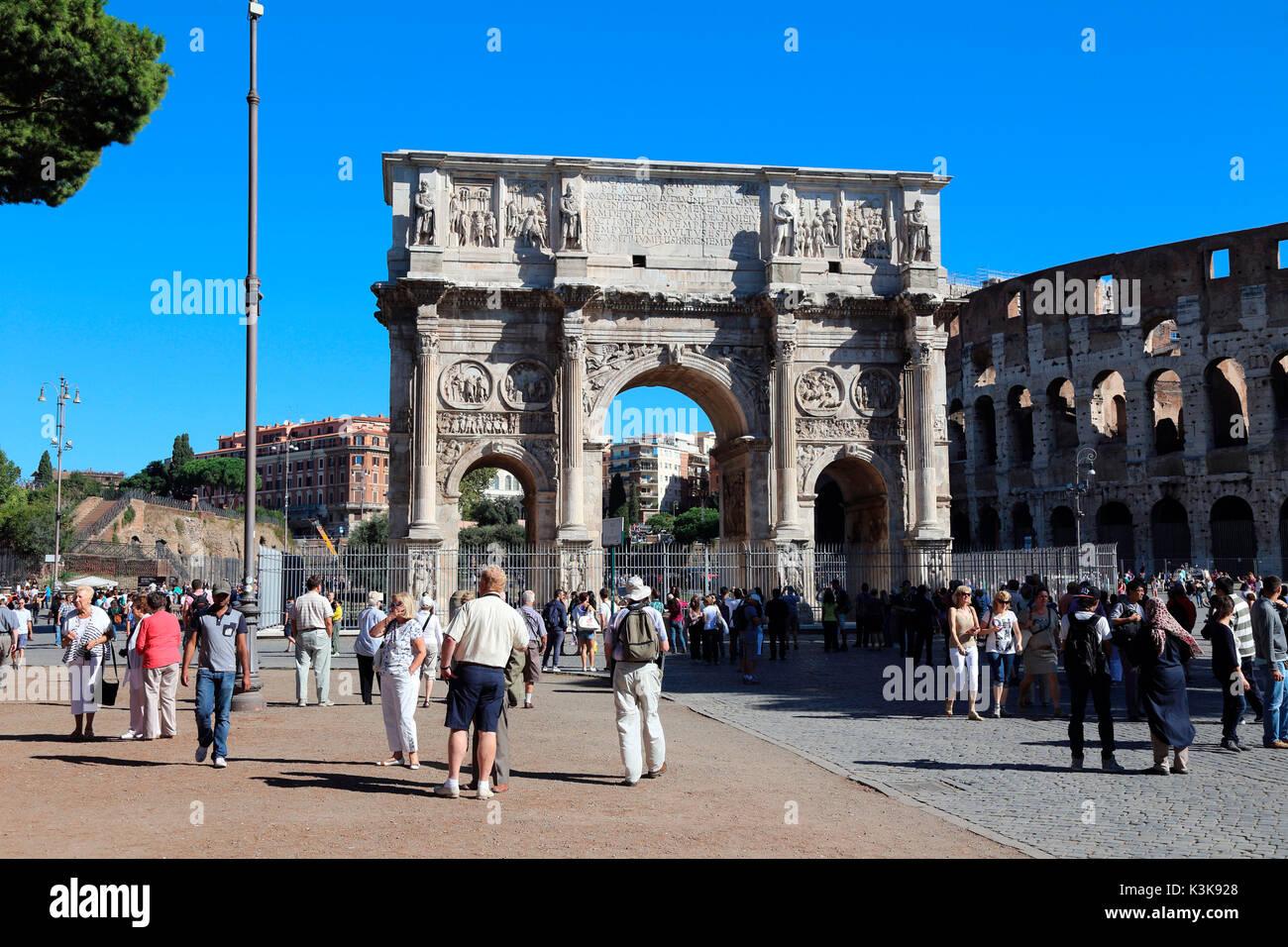 Italy Rome Arco di Costantino Arch of Constantine - Stock Image