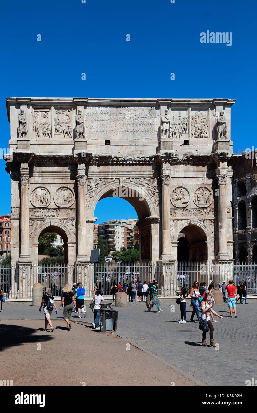 Italy Rome Arco di Costantino Arch of Constantine - Stock Image