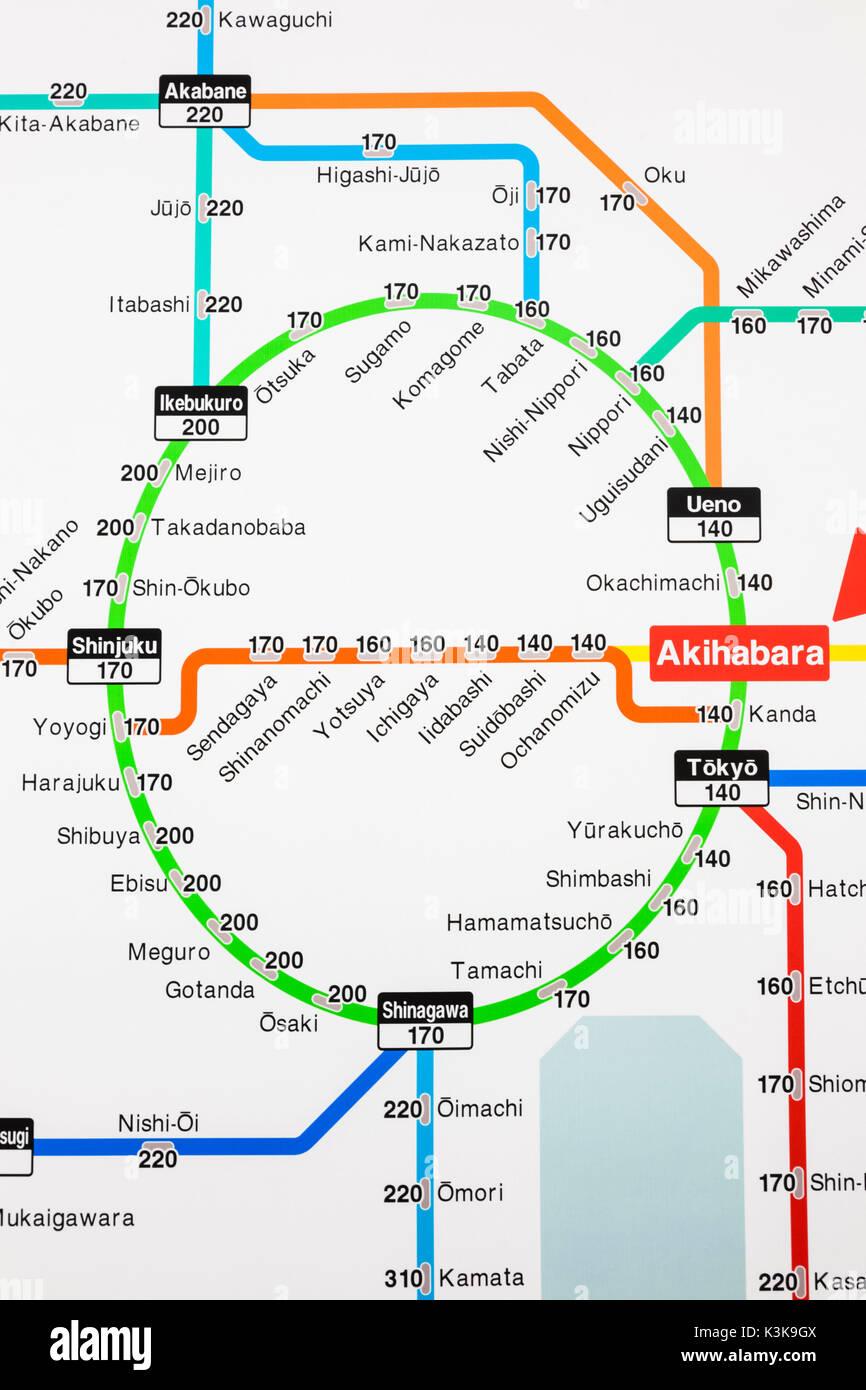 Tokyo Japan Train Map Ecosia