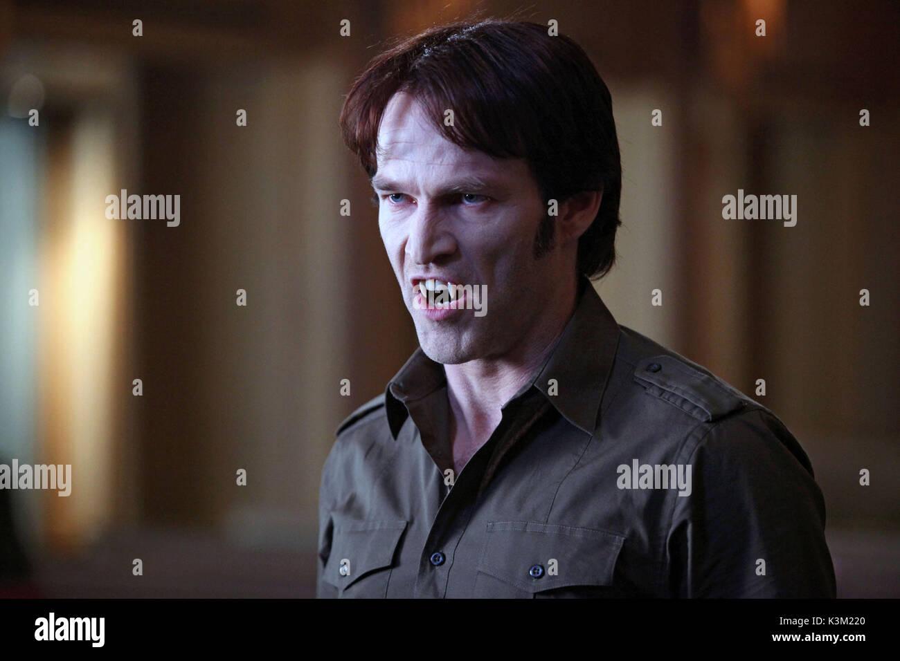 TRUE BLOOD Series,2/Episode,8/Timebomb ALEXANDER SKARSGARD as Eric Northman, STEPHEN MOYER as Bill Compton      - Stock Image