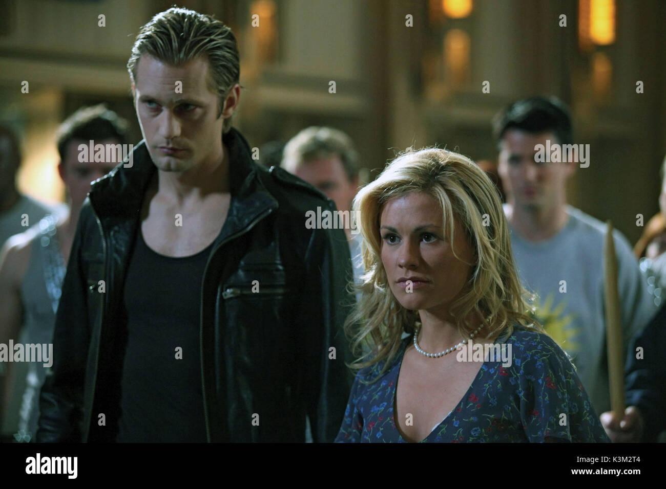 TRUE BLOOD Series,2 / Episode,8 / Timebomb ALEXANDER SKARSGARD as Eric Northman, ANNA PAQUIN as Sookie Stackhouse - Stock Image