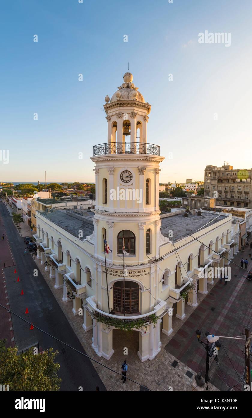 Colonial Zone (Ciudad Colonial), Santo Domingo, Dominican Republic. Colonial architectures. - Stock Image