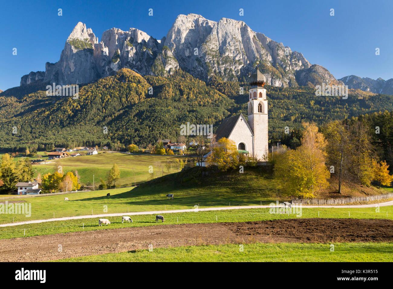 San Costantino, Fiè Allo Sciliar, Trentino Alto Adige, Italy. - Stock Image