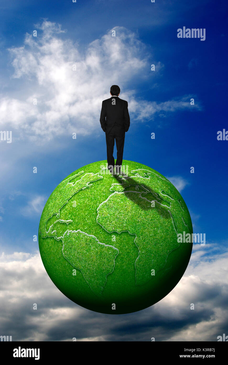 sustainable business concept - Stock Image