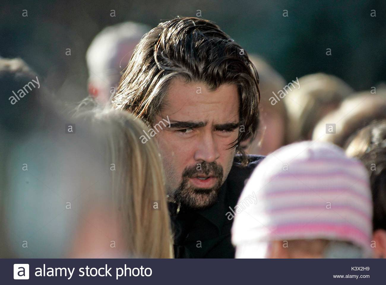 Colin Farrell at the funeral of Geraldine O'Keefe, mother of actor Jonathon Rhys Myers of 'The Tudors' - Stock Image