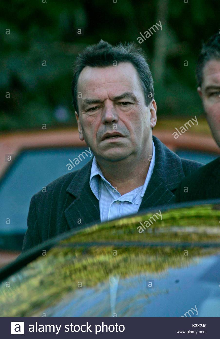 Neil Jordan at the funeral of Geraldine O'Keefe, mother of actor Jonathon Rhys Myers of 'The Tudors' - Stock Image