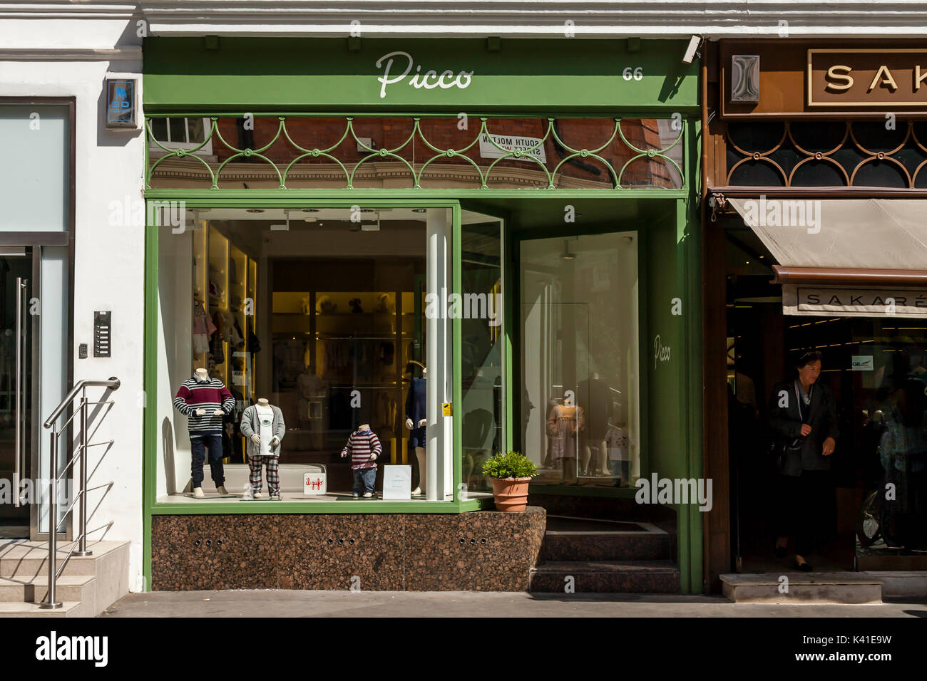 Picco Childrens Clothing Store, South Molton Street, London, UK - Stock Image