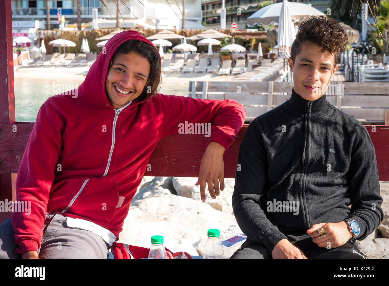 two-young-french-men-of-algerian-descent-pose-for-a-picture-in-juan-K429J2.jpg