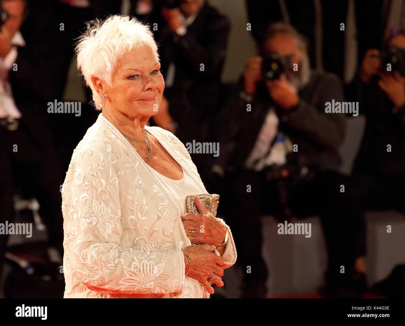 Judi Dench at the premiere of the film Victoria & Abdul at the 74th Venice Film Festival, Sala Grande on Sunday Stock Photo