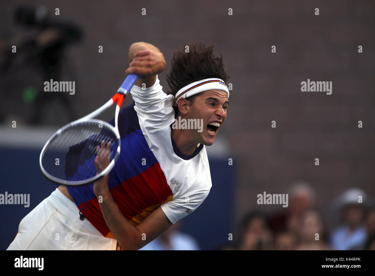 New York, United States. 04th Sep, 2017. US Open Tennis: New York, 4 September, 2017 - number 6 seeded Dominic Thiem - Stock Image