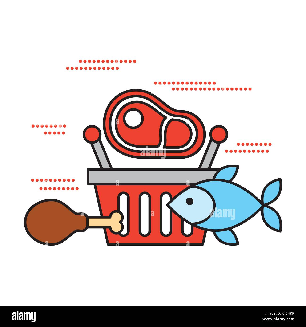 Meat fish market stock photos meat fish market stock for Sea city fish and chicken