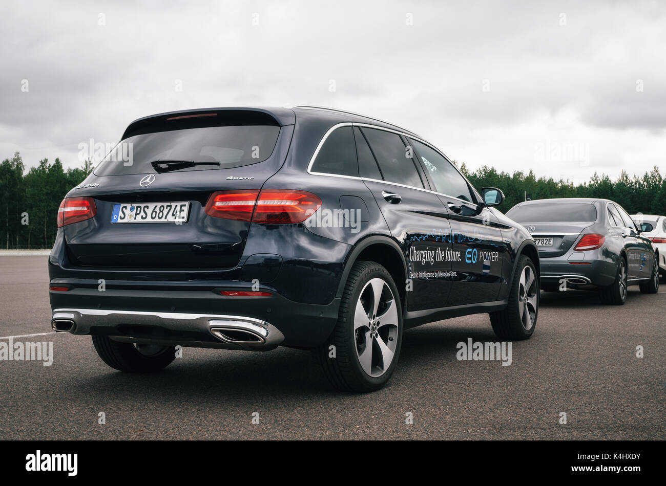 minsk belarus august 26 2017 rear view of mercedes benz glc 350 stock photo royalty free. Black Bedroom Furniture Sets. Home Design Ideas