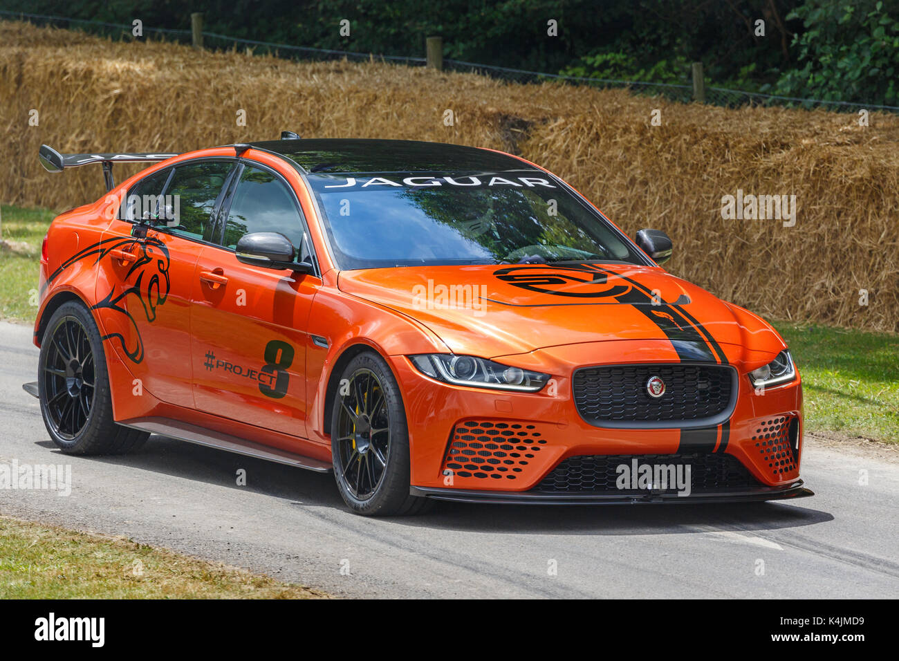 2017 jaguar xe svr project 8 at the 2017 goodwood festival of speed stock photo  royalty free
