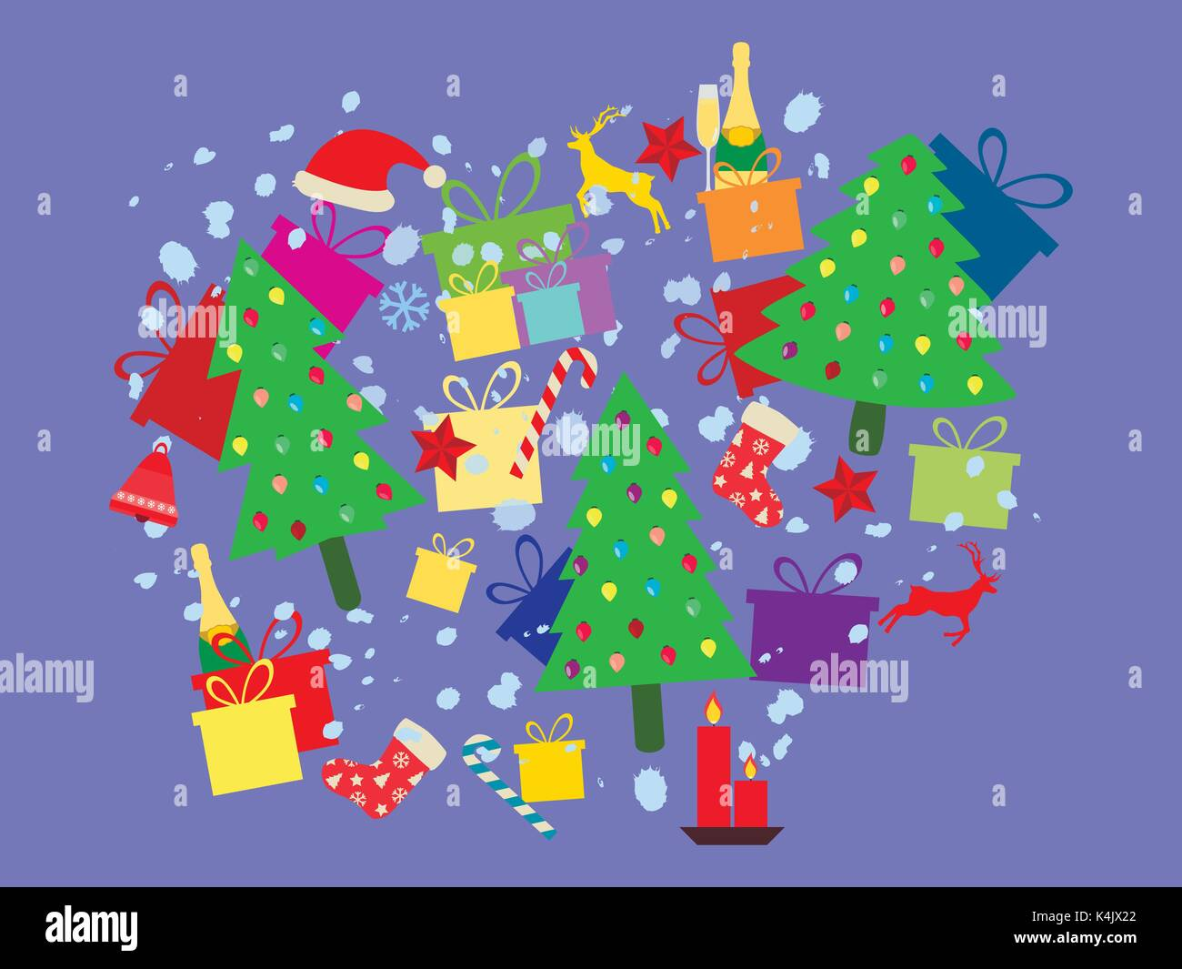 christmas decorations box stock vector images