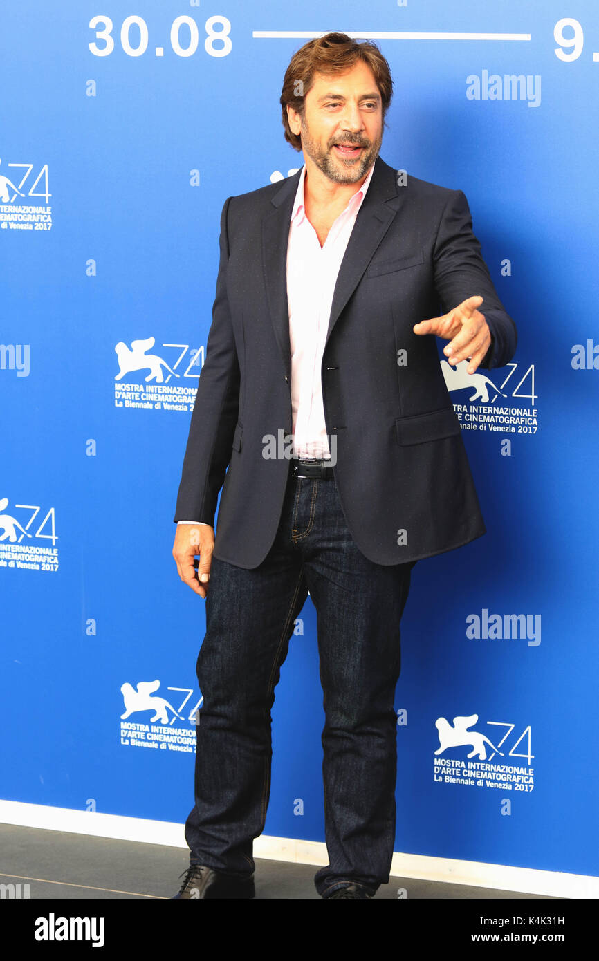 Lido Di Venezia, Italy. 06th Sep, 2017. Europe, Italy, Lido di Venezia, 06 september, 2017 : Javier Bardem, at the - Stock Image