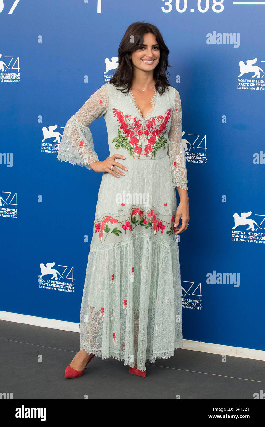 Venice, Italy. 06th Sep, 2017. Penelope Cruz during the 'Loving Pablo' photocall at the 74th Venice International - Stock Image
