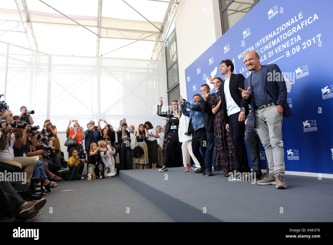 Lido Di Venezia, Italy. 06th Sep, 2017. Europe, Italy, Lido di Venezia, 06 september, 2017 : the cast of movie 'Ammore - Stock Image