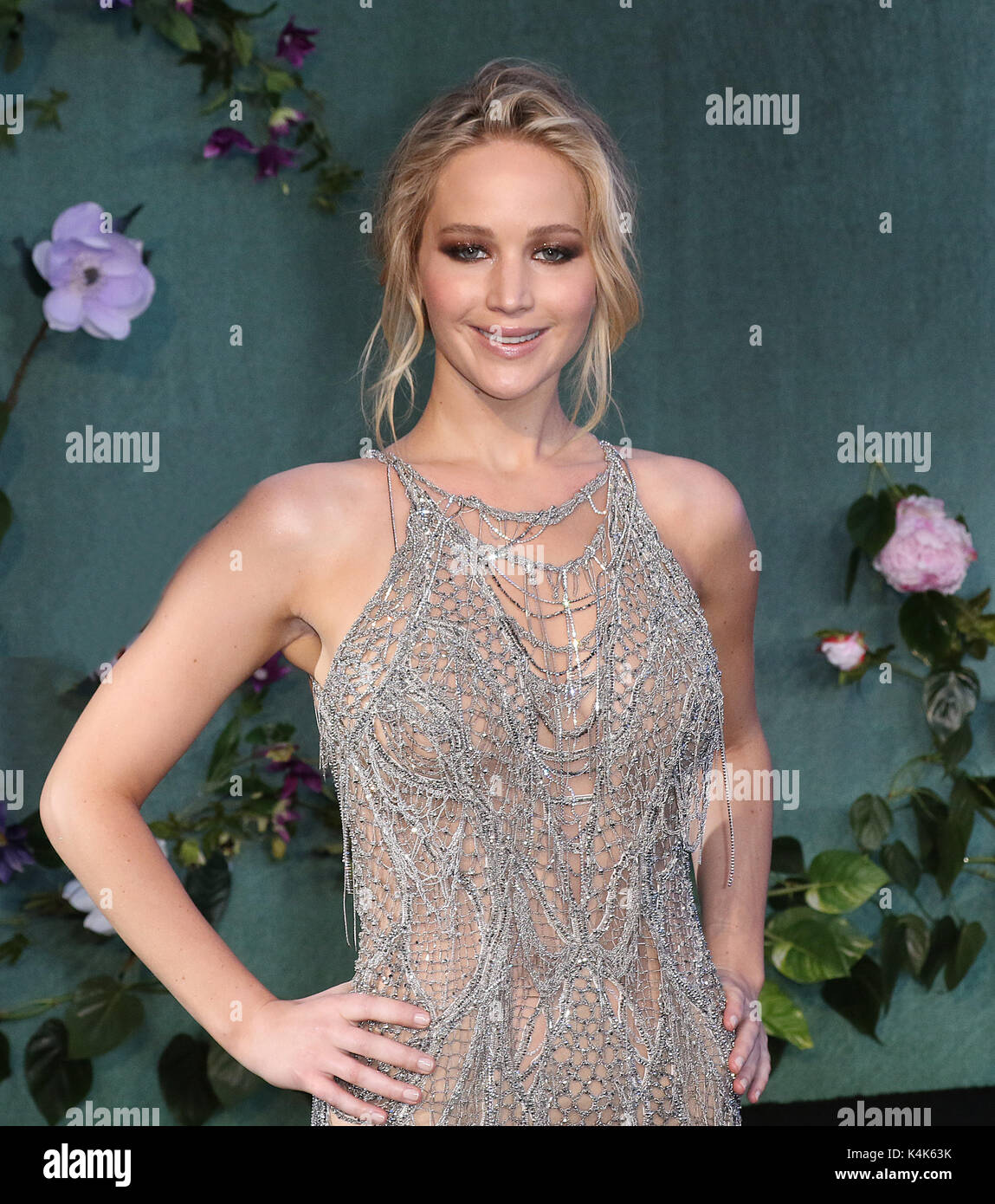 London, UK. 06th Sep, 2017. Jennifer Lawrence, Mother! - UK Film Premiere, Leicester Square, London UK, 06 September Stock Photo