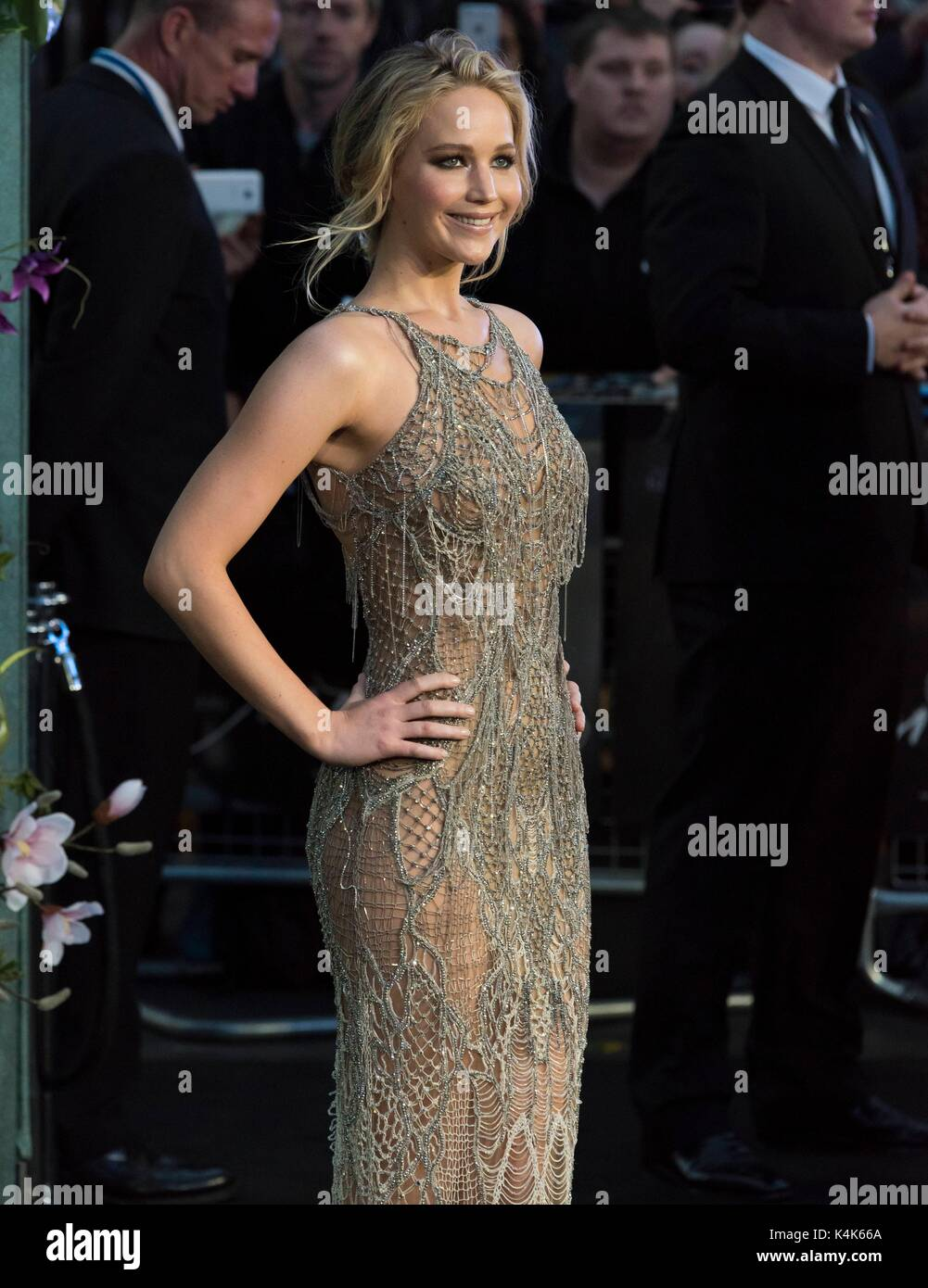 London, United Kingdom Of Great Britain And Northern Ireland. 06th Sep, 2017. Jennifer Lawrence attends MOTHER! - Stock Image