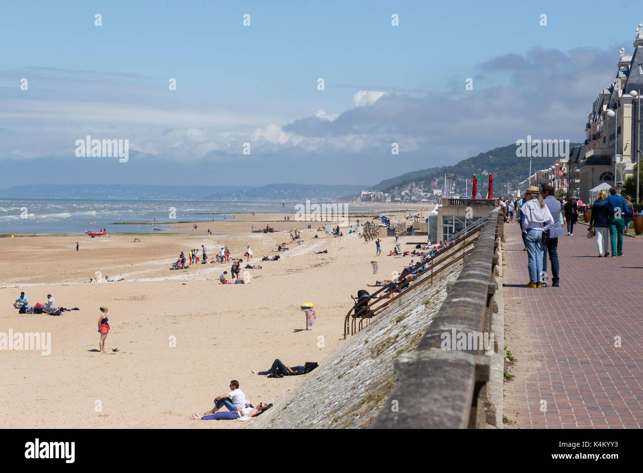 Girls Room Colors Cabourg France Beach Stock Photos Amp Cabourg France Beach