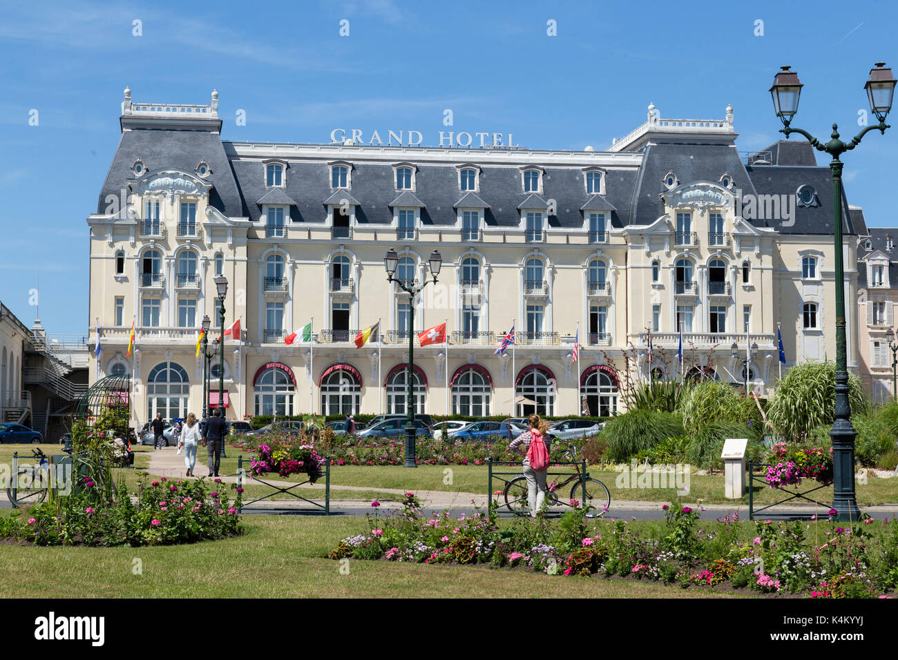 Grand hotel cabourg calvados normandy stock photos grand for Hotel piscine cabourg