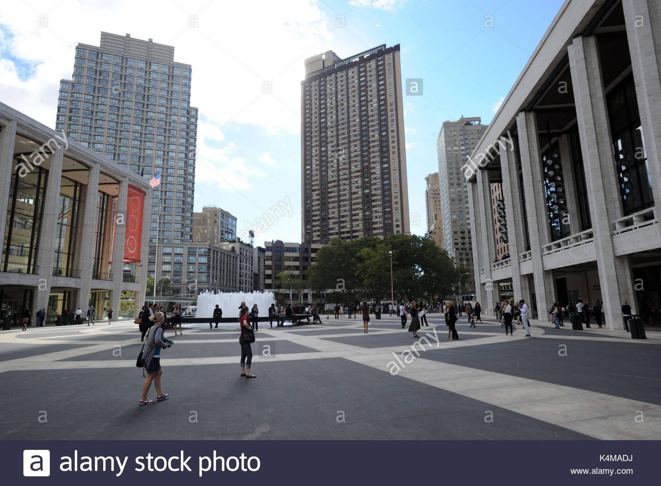 Lincoln center new york city stock photos lincoln center for Mercedes benz of manhattan new york city