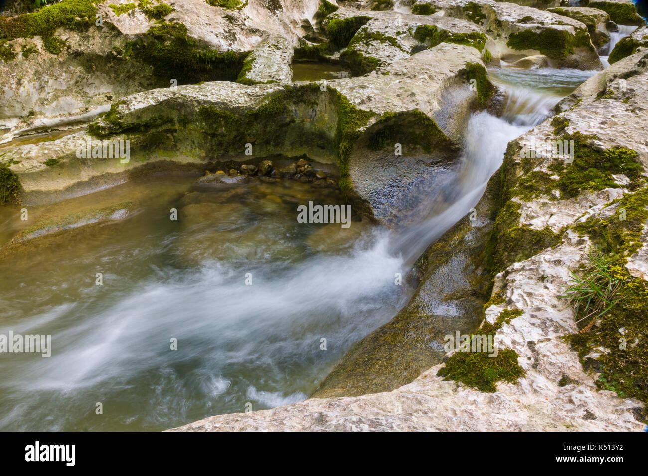 gorge in Kodori canyon in Abkhazia - Stock Image